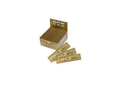 50 OCB Premium Slim Smoking Papers BOX 50x32 Oro Gold