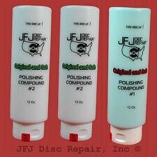 JFJ Advanced Polish Compound Solutions  Two #2 white & One #1 blue 12oz Easy Pro