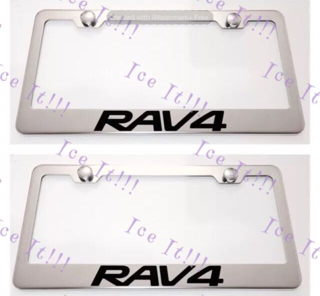 2x Toyota Rav4 RAV 4 Stainless Steel License Plate Frame Rust W ...