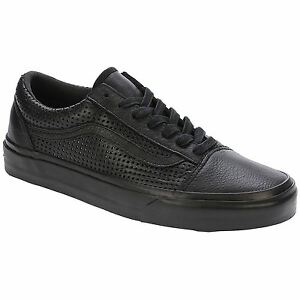 3779184dacc Details about Vans Square Perf Old Skool DX Black Women Leather Lace-up  Trainers Sneaker Shoes