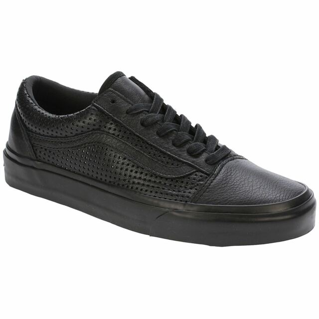 09e3459a62 Vans Square Perf Old Skool DX Black Women Leather Lace-up Trainers Sneaker  Shoes
