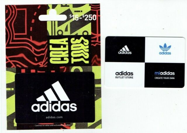 ADIDAS Gift Card LOT of 2 Different - Collectible / No Value
