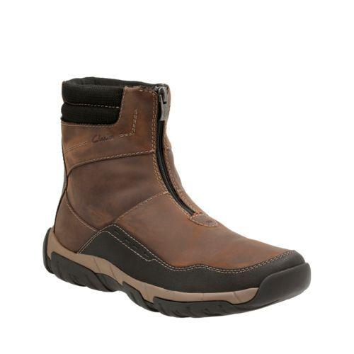 Clarks Para hombre botas De Cuero Marrón Walbeck aumento Impermeable 26119718