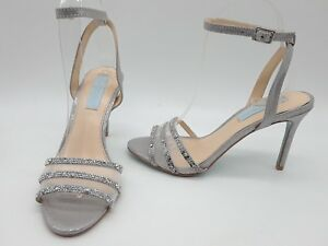 a0c1f6a633d9 Image is loading Betsey-Johnson-Veda-Women-Shoes-Silver-Rhinestones-Ankle-