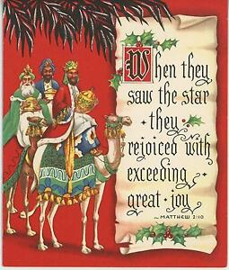 Image Is Loading VINTAGE CHRISTMAS THREE WISE MEN CAMEL BETHLEHEM MYRRH