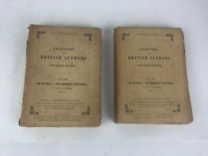 WILKIE COLLINS BRITISH AUTHORS TAUCHNITZ EDITION THE INITIALS BARONESS 1&2 1854