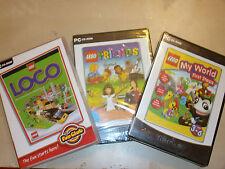 3 PC CD-ROM KIDS LEGO GAMES LEGO MY WORLD FIRST STEPS + LEGO LOCO +LEGO FRIENDS
