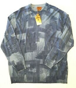 Details about New NWT Tulliano Mens 100% Cashmere Crew Neck Blue Sweater 3XT Big and Tall