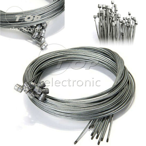 10Pcs 2m Bike Bicycle Brake Inner Wire Gear Shift Cable Line Stainless Steel US