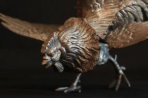 AgréAble Coq En Bronze Argenté Xixème / Rooster Silvered Bronze 19th Century