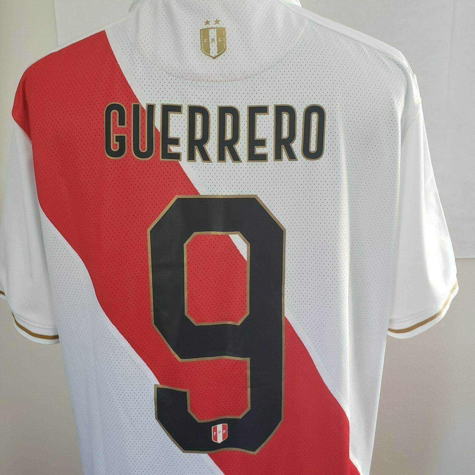 JERSEY PERU COPA AMERICA 2019 SOCCER ORIGINAL MARATHON  GUERRERO 9