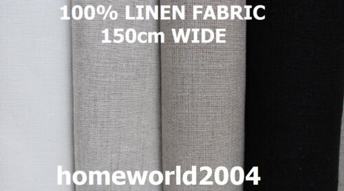 Lavé 100/% lin tissu largeur 150cm par mètre
