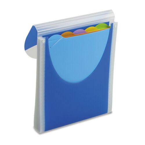 Wilson Jones Big Mouth Vertical Filer Organizer Jacket 10 x 12 Poly Dark Blue