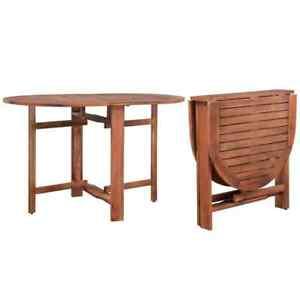 vidaXL Table Ovale d\'Extérieur à Dîner Bois d\'Acacia Terrasse Table ...