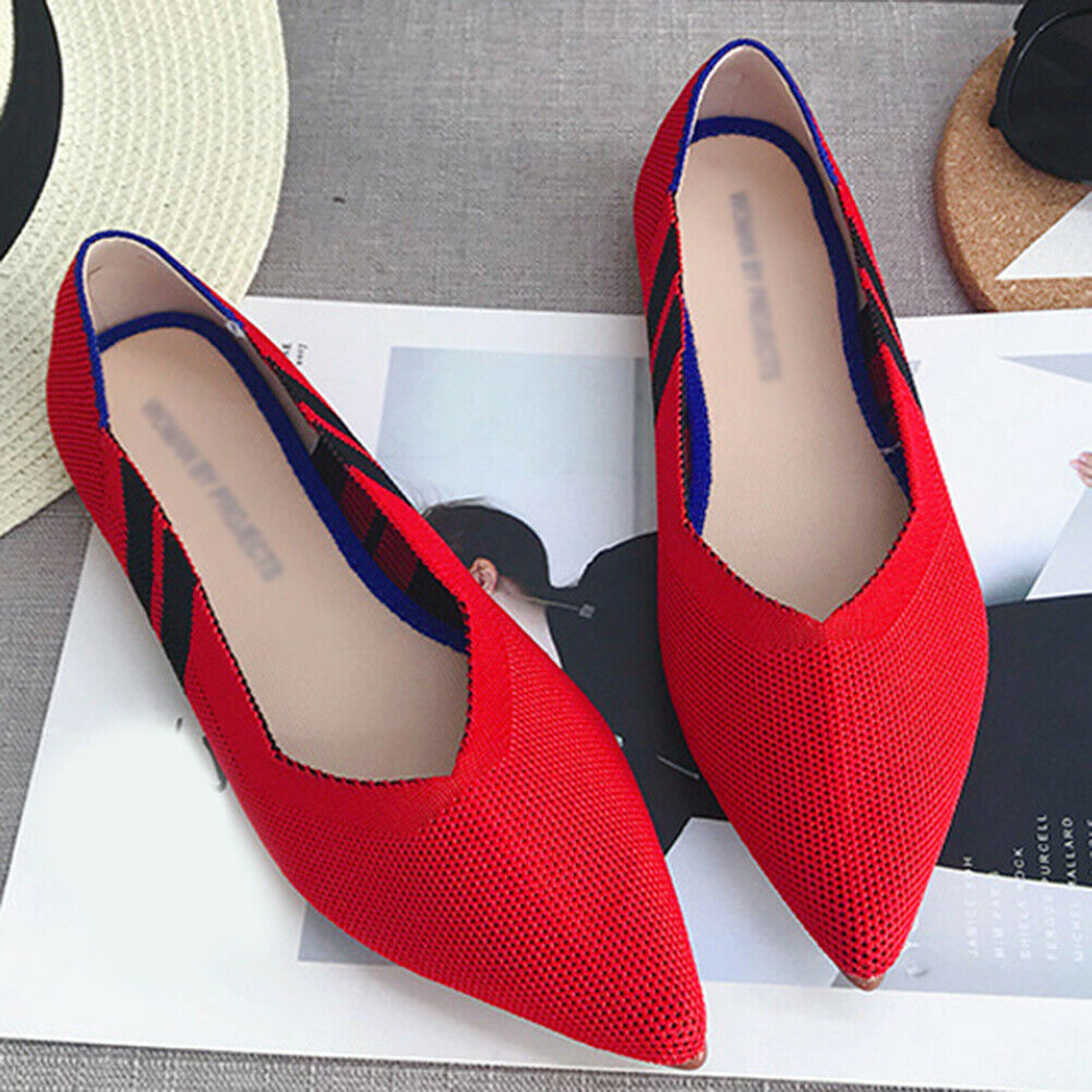 Weaving Women Shoes Pointed Flat Comfortable Shallow Wear Resistant Peas Shoes B