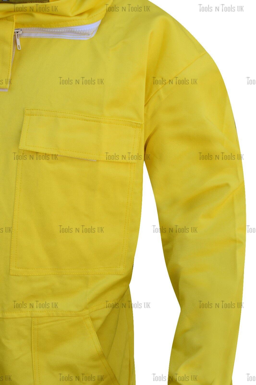 GIALLO Heavy Duty cotone cotone cotone Apicoltura Tuta unisex Bee Tuta Apicoltori grandi dimensioni 079ec0