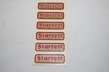 Vintage Nos Set Of 6 Starrett Slip On Labels Full Sheet