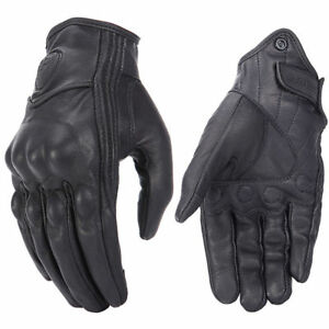 2020 Retro Real Leather Motorcycle Gloves Moto Waterproof Gloves Motocross Glove Ebay