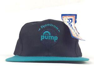 6c491d79 Vintage Reebok The Pump Pump It Up Black Baseball Cap Hat Snapback ...