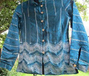 Deep maat Jas Pure wealthy 6 Turquoise Looking Silk apwBqx5RU