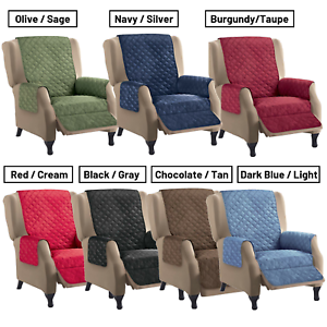 Fabulous Details About Reversible Quilted Recliner Cover Furniture Lazy Boy Seat Protection Pet Cat Dog Ocoug Best Dining Table And Chair Ideas Images Ocougorg