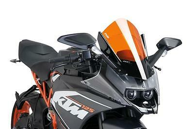 PUIG Orange Racing Screen/Windshield: KTM RC 125/200/250/390 2014-2017 (7004T)