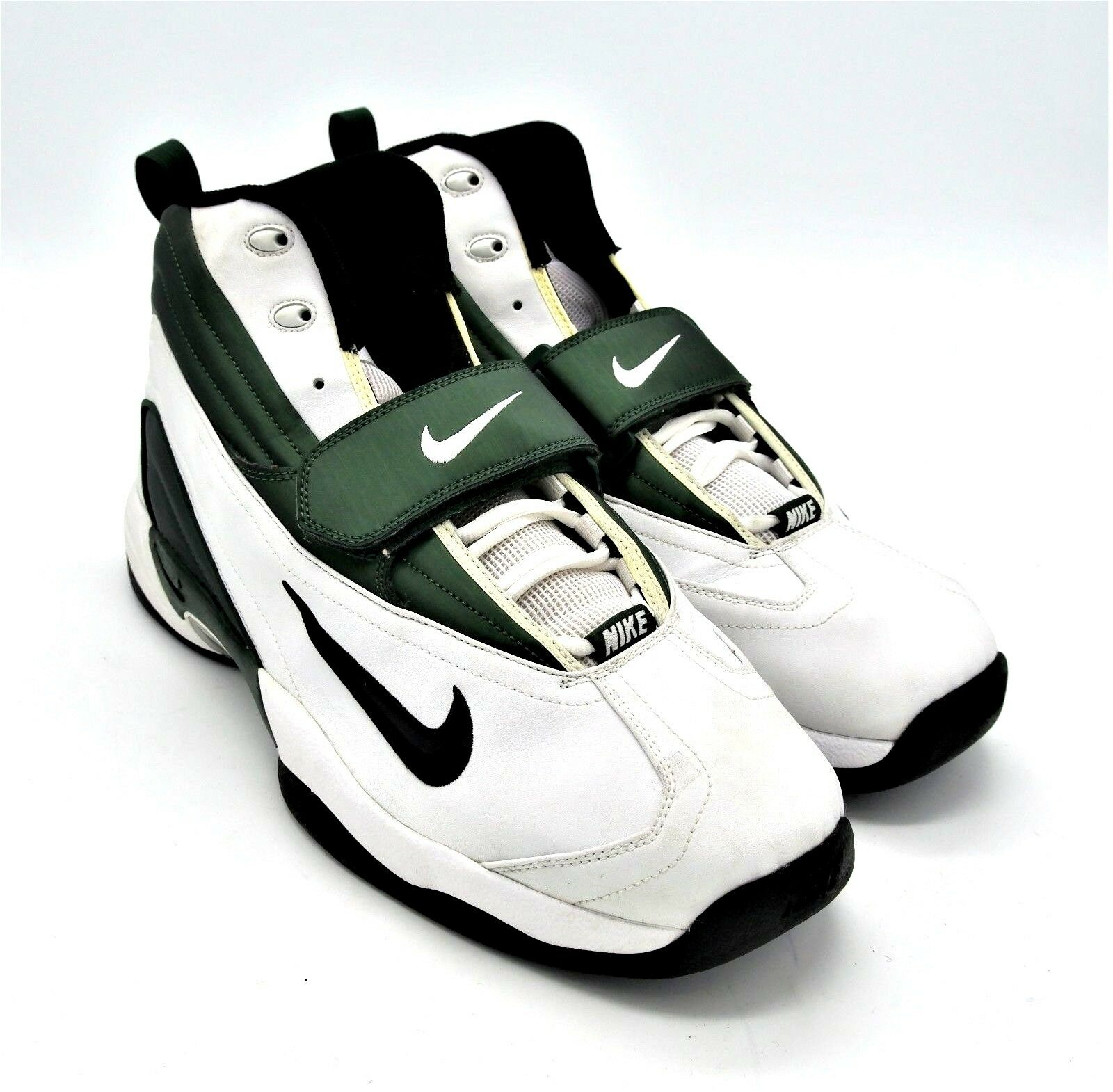 D879 New Men's Nike Air Pro BBX Stove White Black Forest Green 17 M