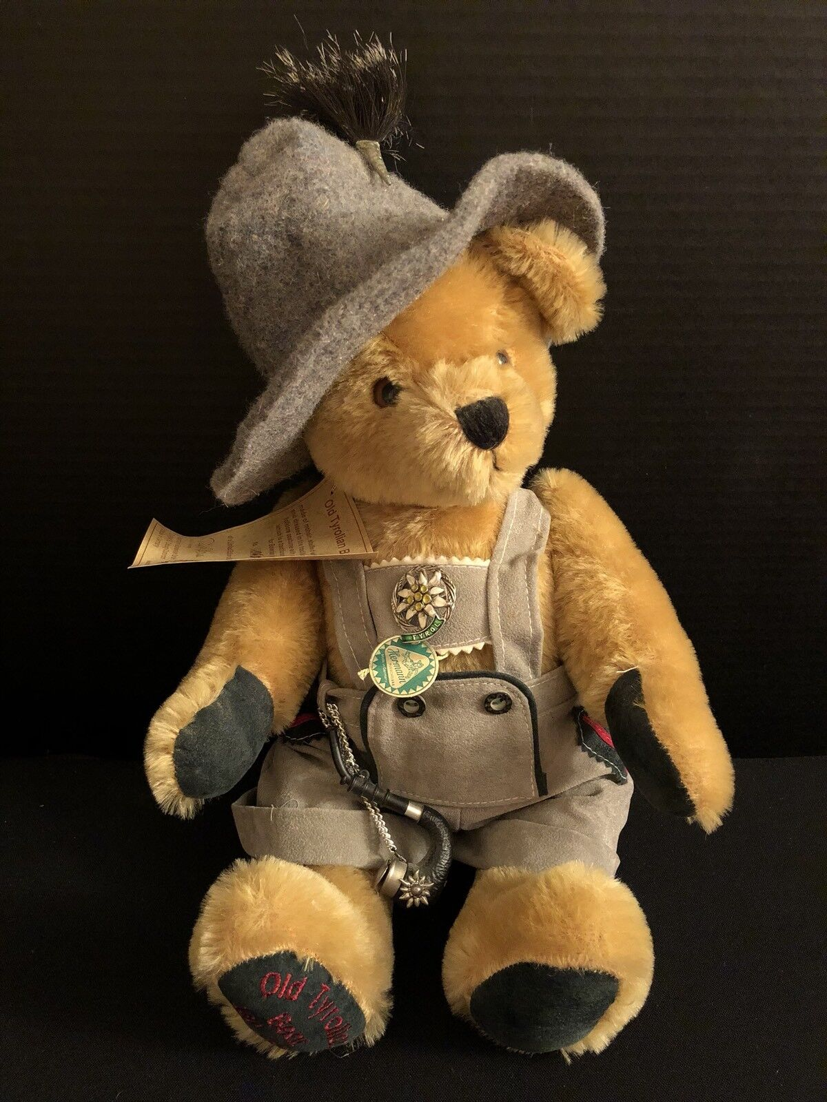 Rare Hermann's Limited Edition Old Tyrolean Stuffed Animal Bear 15  Made Germany