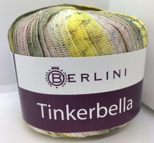 Sage Chartreuse Shell Pink White Tinkerbella Berlini Wide Ribbon Yarn #13 Lotus
