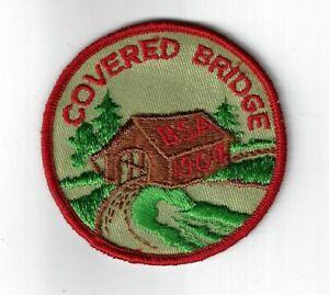 1964-Covered-Bridge-Patch-RED-Border-GA-229