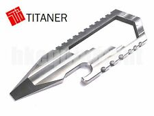 TITANER Titanium Bottle Opener Screwdriver Spanner Wrench Set Card Multi Tools