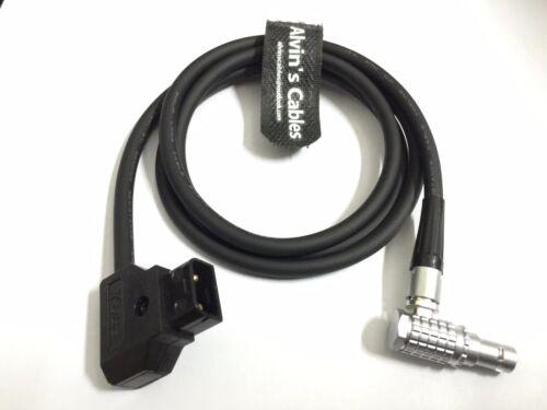 D-TAP a 0b 4 Pin Cable de ángulo derecho para cámaras longitud de encargo