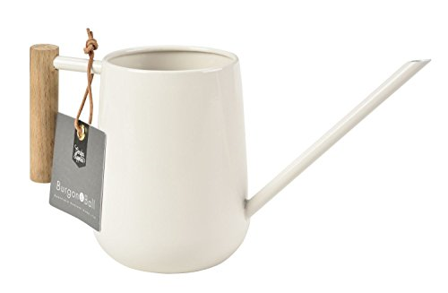 Burgon & Ball Indoor Watering Can in Stone Cream 0.7L Lightweight with Wooden