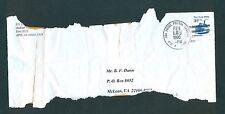 "US Embassy Unit 3315 - 1996 ""AIR FORCE POSTAL SERVICE APO"" damaged in transit"