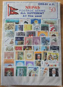 1959-1991-Nepal-stamp-set-of-50-in-presentation-folder