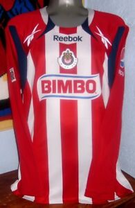 d995f1fb0 REEBOK CHIVAS GUADALAJARA MEXICO L CHICHARITO LS LONG 2011 ORIGINAL ...