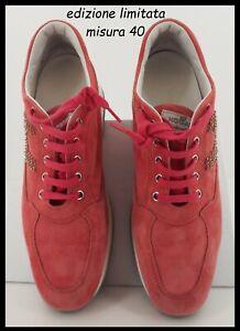 HOGAN-INTERACTIVE-originali-da-donna-40-fucsia-camoscio-con-scarpa-scarpe-nuove