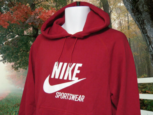Sports Nsw Heavyweight Nike Nueva Large Cotton 884802659266 Red Vintage Wear Hoodie 5Z5xagn
