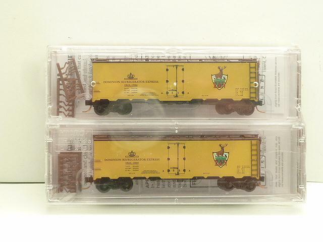 NSC 0878 esquimalt & Nanaimo Railway 40' acciaio reefer AUTO 2 Set