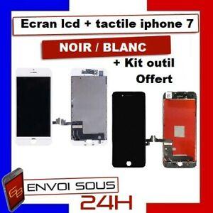 ECRAN-LCD-IPHONE-7-NOIR-BLANC-AVEC-VITRE-TACTILE-SUR-CHASSIS-Kit-outil-Original