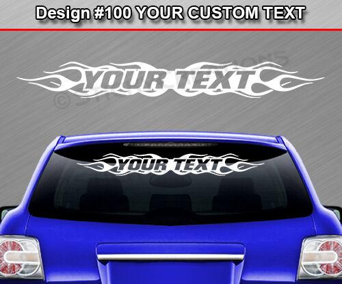 #100 CUSTOM Text Customized Name Windshield Window Decal Sticker Vinyl Graphic