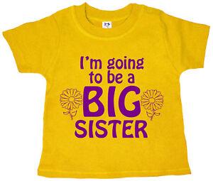 """Big Sister T-shirt /""""Je vais être grande soeur/"""" bébé fille tee-shirt Vêtements"""