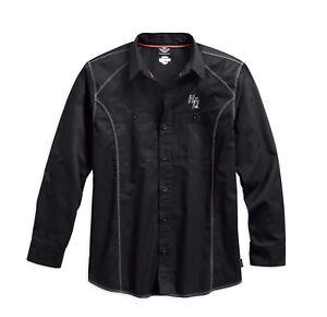 Harley-Davidson-Men-039-s-Performance-Coldblack-Tech-Long-Sleeve-Shirt-99017-17VM