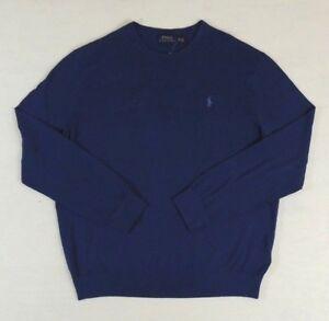 Polo-Ralph-Lauren-Cashmere-Cotton-Crewneck-Pony-Classic-Sweater-Jumper-1XB-Big