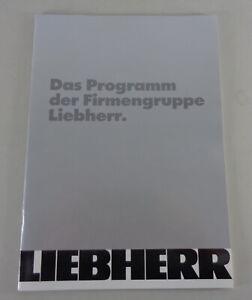 Prospectus/Brochure Liebherr The Programme Der Company Range From 03/1992