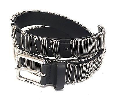 "Adattabile Diesel Pelle Cintura Designer ""betion"" Leather Belt 100cm 00sjy8 #05-mostra Il Titolo Originale"