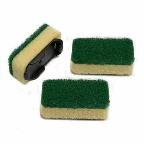 12 x Heavy Duty Dishmatic Green Refill Sponges