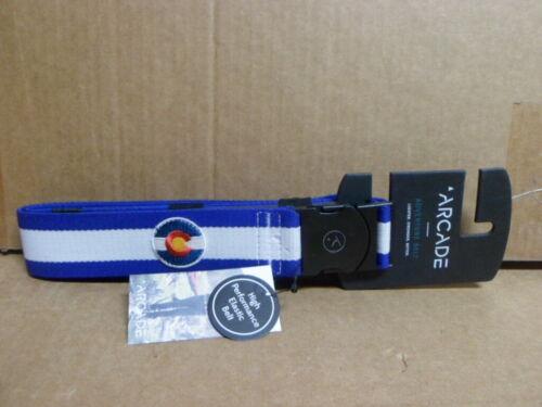 Arcade Mens and Womens Elastic Stretch Thin Web Belt Rambler Colorado Blue