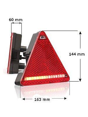 LED Rücklicht Heckleuchte Brems Blinker Mehrfachleuchte 6in1 Links 12//24V Nr319