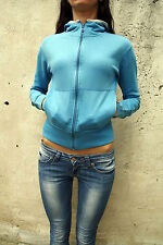 Levis Girl's Zip Cardigan Sky Blue Jumper Hood  Jacket Red Tab M Medium